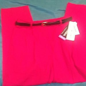 Sag Harbor NWT Red Woman's Linen Pants